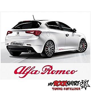 2x Alfa Romeo 15cm Aufkleber Tuning Scheibe Lack TYP-MRS57 `+ Bonus Testaufkleber