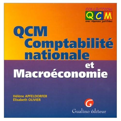 QCM comptabilité nationale et macroéconomie