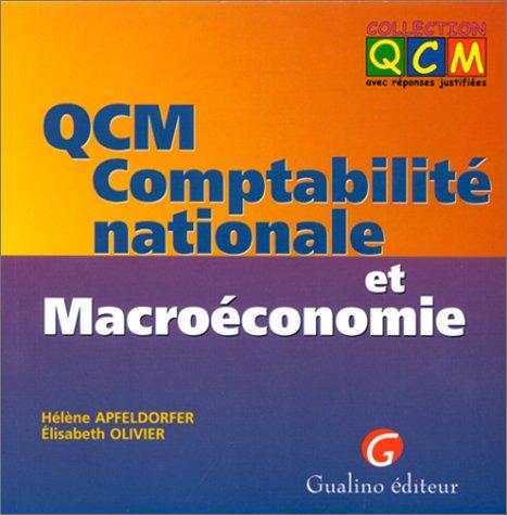 QCM comptabilité nationale et macroéconomie par Hélène Apfeldorfer