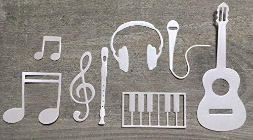 SimpleLettering Stanzschablone Cutting Dies Musik Noten Instrumente geeignet für Big Shot Stanzm