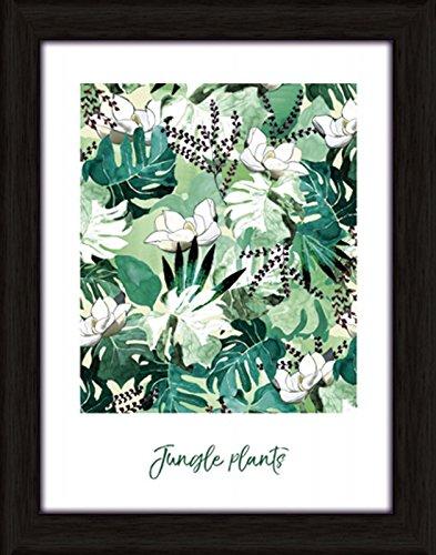 Artland Wand-Bild Poster Kunstdruck mit Rahmen Jule Dschungelpflanzen Statement Bilder Sprüche & Texte Digitale Kunst Grün C7LJ