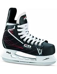 Fila Schlittschuhe Viper HC - Patines de hockey sobre hielo, color negro / rojo, talla 48