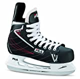 Fila Schlittschuhe Viper HC - Patines de hockey sobre hielo, color negro/rojo, talla 45