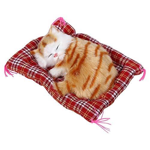 Características:Este juguete gato está hecho de felpa y plástico, lo que no es perjudicial para cuerpo humano, seguro para comprar. Se puede hacer un sonido con la batería integrada e inconfundible, muy adorable. Mini y tamaño compacto, es ideal para...
