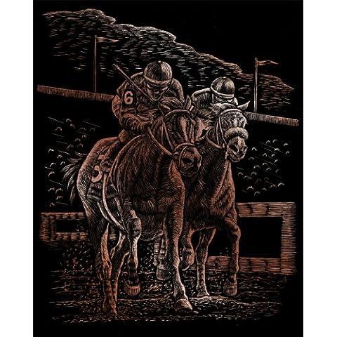 Royal & Langnickel COPF28 - Lamina para grabado deseno de carrera de caballos