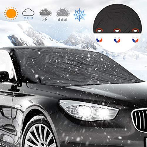 Frontscheibe Abdeckung, Orlegol Auto Scheibenabdeckung Winterschutz Magnet Faltbare Abnehmbare Der perfekte Schutz für die Windschutzscheibe gegen Schnee, EIS, Frost und Sonne (210 * 120cm)