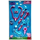 Peppa Pig Doctor Set In Blister Packing For Children Of Age 3 To 8 Years   Premium Quality   Certified Safe As Per European Safety Standards (EN71)   Fun And Educational Toys For Kids   Multi Color   Includes 1 Doctor Batch, 1 Stethoscope, 1 Bandage, 1 Sy