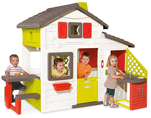 Preisvergleich Produktbild Smoby Friends House Spielhaus mit Küche Zubehör Garten Haus Kinderhaus Outdoor
