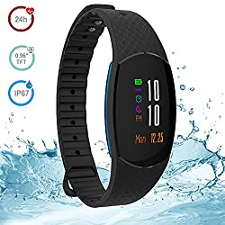 "Fitness Tracker,xnuo Sh09u Fitness Watches Activity Tracker Hr 0.96"" Tft Color Oled Touchscreen Ip67 Waterproof Fitness Bands Exercise Trackers Watch Fitness Bracelet Fitness Wristband Heart Rate Monitor Bpm Monitor Sleep Monitor Calorie Counter Remote Camera Callmessagealarm Reminder Bluetooth 4.2 Multi Language Outdoor Friendly Step Tracker For Ios & Android (Black)"