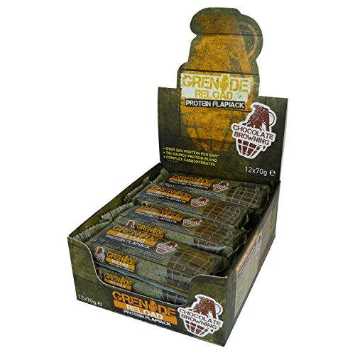 Grenade Reload Protein Flapjacks, 12 x 70 g Bars - Chocolate Browning Test