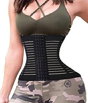 Damen Waist Training Trainer Korsett Sport Taille Cincher Body Shaper Taillenmieder (Medium, Schwarz) 0