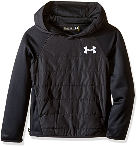 Under Armour Jungen Fitness Sweatshirt UA SWACKET INSULATED HOODY schwarz, XS - Coldgear Hoody