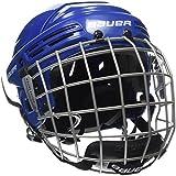 Bauer 2100 Combo Adult Helmet with Face Guard, Blue, Meduim (54-59 cm)