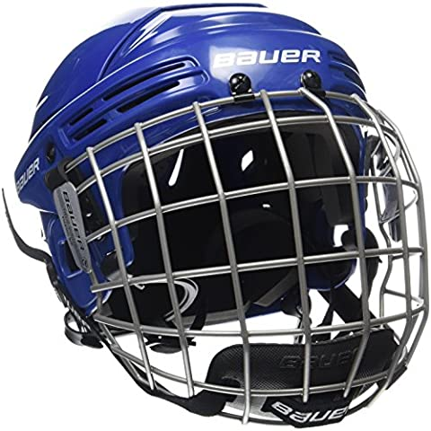 Bauer 2100 Combo Adult Helmet with Face Guard, Blue, Meduim