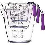Kitchen Craft Colourworks 3 Piece Measuring Jug Set - Purple