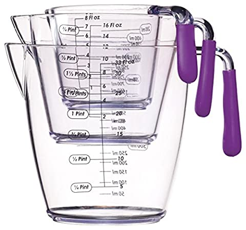 Kitchen Craft Colourworks 3 Piece Measuring Jug Set -