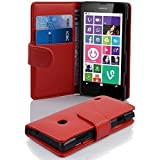 Nokia Lumia 630 / 635 Hülle in ROT von Cadorabo - Handyhülle mit Kartenfach / 635 Case Cover Schutzhülle Etui Tasche Book Klapp Style in INFERNO ROT
