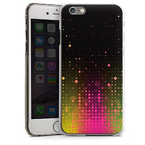 Apple iPhone 6 Housse Étui Silicone Coque Protection Rose vif Points CasDur transparent