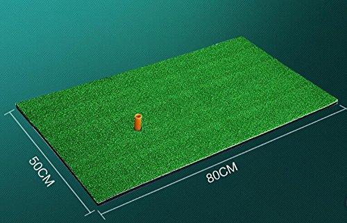 Unique Backyard Golf Tapis 50,8x 81,3cm Résidentielles Practise Golf Tapis en caoutchouc Tee support pour Néophyte Golf d'entraînement Practise A tapis de 1.5cm d'épaisseur avec caoutchouc Tee support