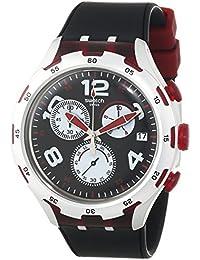 Swatch Herren-Armbanduhr RED WHEEL Chronograph Quarz Silikon YYS4004