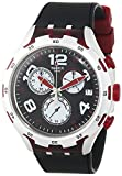 Swatch Herren-Armbanduhr RED Wheel Chronograph Quarz Silikon YYS4004