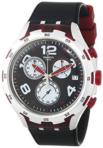 Swatch YYS4004 – Reloj de pulsera Hombre, Silicona, color Negro