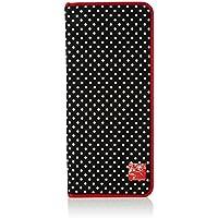 Prym Gepunktetes Stricknadel-Etui Rotem Rand, Schwarz/Weiß, aus Polyester