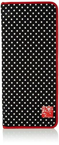 Prym-Ferri a pois, con finitura rossa, in poliestere, colore: nero/bianco