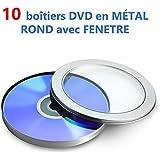 Caja DVD Metal redondo con ventana–compra por X 10
