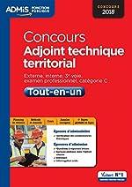 Concours Adjoint technique territorial - Catégorie C - Tout-en-un - Concours 2018 de Olivier Bellégo