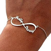 Silber Infinity Armband mit Name