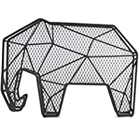 Kikkerland KKHH24 Range-Documents Mural ou à Poser Forme de Eléphant, Noir, 16, 3 x 21, 5 x 9, 5 cm