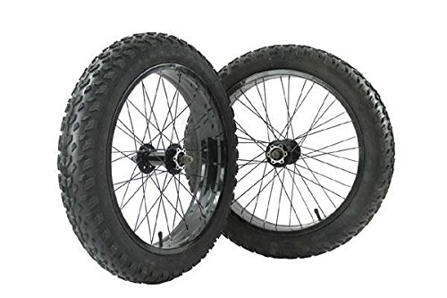 "Bike RIDEWILL - Par de ruedas Fat Bike 20"" y techados 20 x 4,00 cámaras de aire (ruedas Fat Bike)"