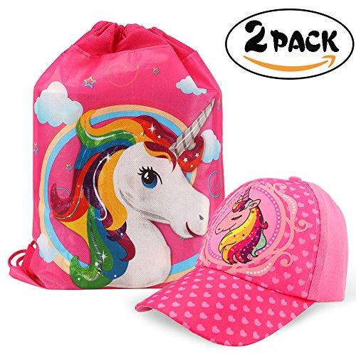 Tacobear Gorra de Beisbol Unicornio niñas y Unicornio Bolsa de Cuerdas para  Infantiles Unicornio Rellenos de 8aae9ec0c10