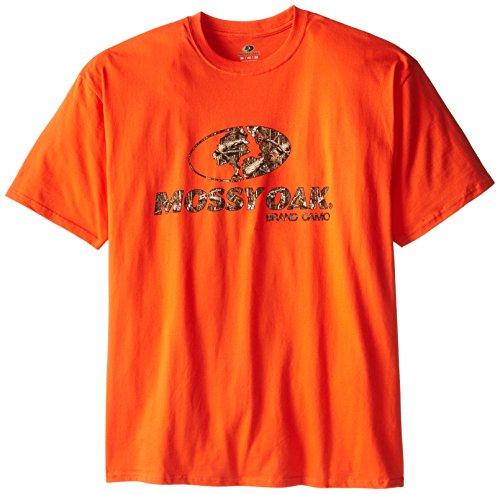Mossy Oak Camo T-shirt (Mossy Oak Herren vorne Logo Short Sleeve T-Shirt, Herren, Orange, XX-Large)