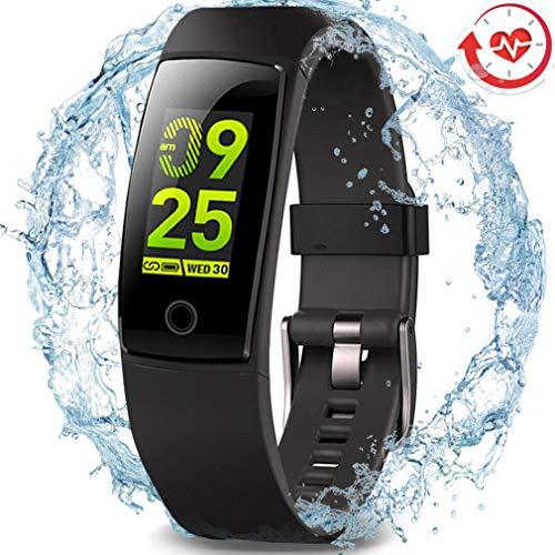 MorePro Fitness Armband mit Pulsmesser,Fitness Tracker IP67 Wasserdicht blutdruckmessgerätmit Vibrationsalarm Anruf SMS Beachten für iPhone Android Handy