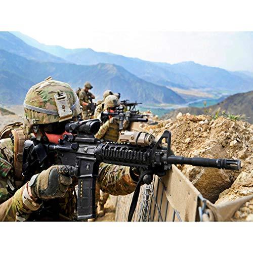 Blaue National Guard (PHOTOGRAPHY MILITARY SOLDIER GUN RIFLE NATIONAL GUARD USA 30X40 CMS FINE ART PRINT ART POSTER BB9102)