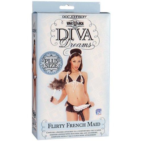 Doc Johnson Lock Diva Dreams Flirty French Maid mit Geschirr, Plus ()