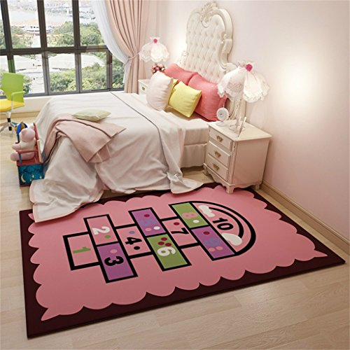 Tappeti Area creativa Tappeto moderno per camera dei bambini - Motivo  digitale rosa - Tappeto a motivi stile nordico per soggiorno camera da  letto - ...