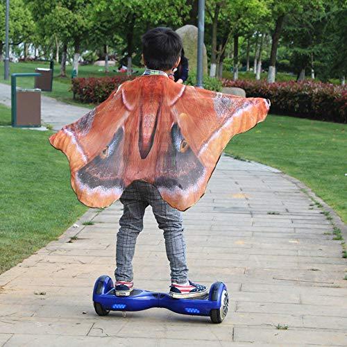 cookdate322 Strandtuch Handtuch Matte Sunscreen Tuch Kind Kinder Jungen Mädchen böhmischen Schmetterling Print Schal Pashmina Kostüm ZubehörStrand Wandern - Orange Schmetterling Kostüm