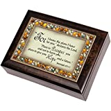Cottage Garden 129299 Music Box - I Know The Plans & How Great Thou Art-Golden Jeweled by Cottage Garden Collections