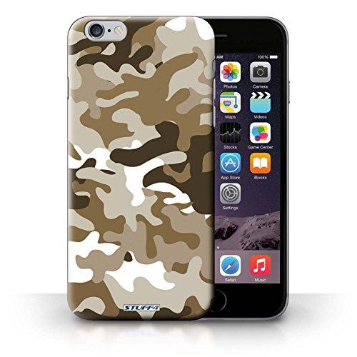 Custodia Prottetiva stampata con il disegno Camuffamento Army Navy per iPhone 6+/Plus 5.5 - Bianco 2 Marron 1