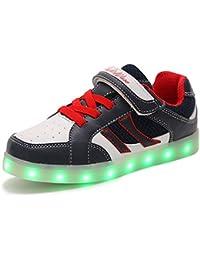 HUSK'SWARE USB de Carga de 7 Colores Light up Shoes for Kids de Luz LED Unisex Zapatilla de Deporte del Zapato por la Fiesta de Baile de Navidad de