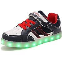HUSK'SWARE 7 Colore USB Carica LED Lampeggiante Luminosi Sneakers Sport Scarpe Bambini e ragazzi