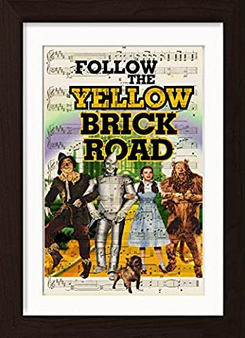 Wizard Of Ox Follow The Yellow Brick Road Music Sheet Song Lyric Gene Kelly Print