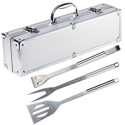 Ultranatura Stainless Steel Grill Tool Set - 3-Piece Set in