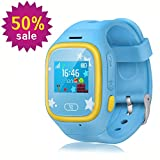 Witmoving Smart Watch Kids, GPS Tracker Watch Touch Screen Childrens Smart Watch Phone Sim Anti-lost SOS Wrist Watch Parent Control By IPhone IOS Android Smartphone for Boys Girls (Blue)