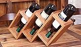 Wine Rack Lei ZE Jun UK- Oak Desktop Wine Cup Holder Home Bar des châssis vin Pratiques étagère à Bouteilles