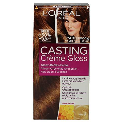 L'Oréal Paris Casting Crème Gloss Glanz-Reflex-Intensivtönung 734 in Blütenhonig Pack (1x3) (540ml, Blütenhonig)