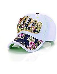 Hualing Mujeres Primavera y Verano Sun sombrero de vaquero flor Gorra de b¨¦isbol